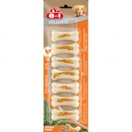 8in1 DELIGHTS Strong XS Косточка прессованная с куриным мясом для собак мелких и средних пород (7*7,5 см)