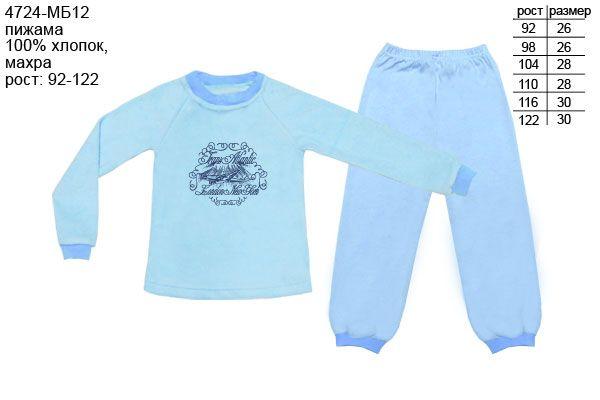 Голубая пижама для мальчика Самолет
