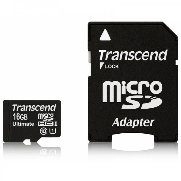 16GB Карта памяти MicroSDHC Class10 UHS-I Ultimate Transcend