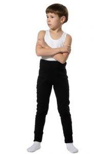 Черные кальсоны для мальчика
