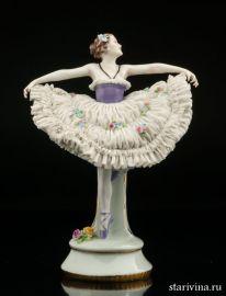 Балерина, кружевница, E & A Muller, Германия, до 1927 года