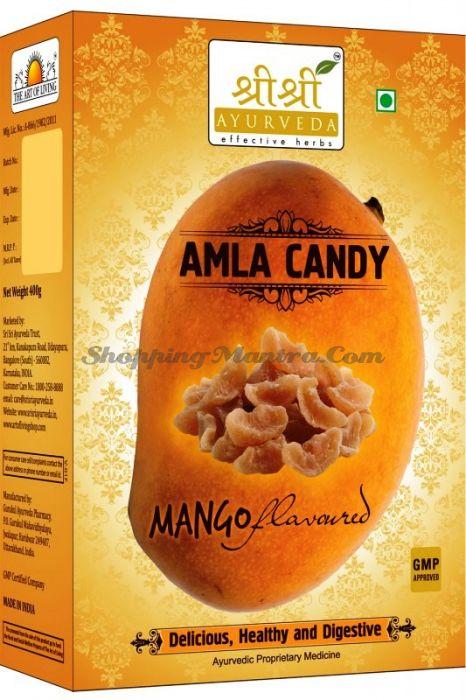 Амла сладкая со вкусом манго Шри Шри Аюрведа (Sri Sri Ayurveda Amla Mango Flavour Candy)