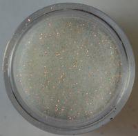Блёстки (глиттер) белые с золотым отливом в банке, 3,5 гр