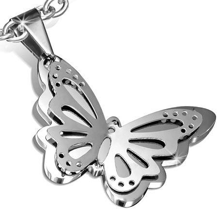 Кулон Стальная Бабочка