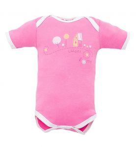 розовое боди для малышки от Лилипут