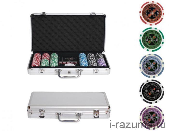 Покерный набор на 300 фишек «Ultimate» (фишка 14 гр./алюминиевый кейс)