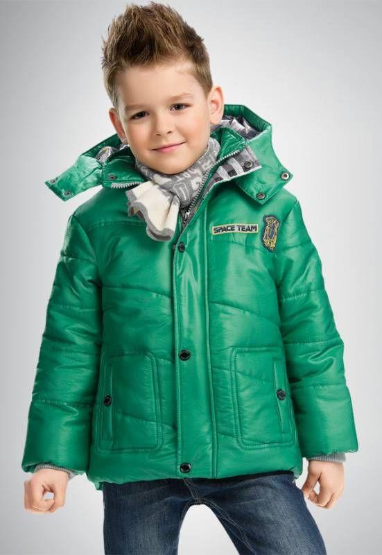 Зеленая куртка для мальчика 4 лет Space team