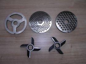 Мясорубка пром. МИМ-600 Комплект ножей и решеток (б/бурта)