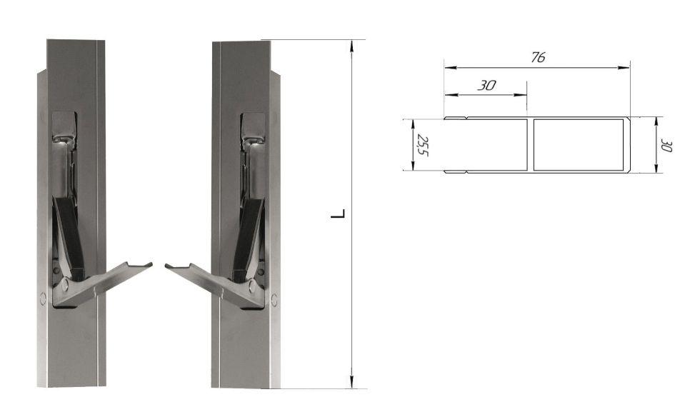 Стойка алюминиевая 600 мм (Арт: 30601)