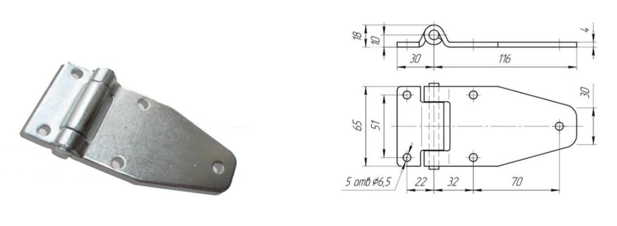 Петля 116 мм Zn (Арт: 41250)