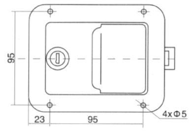 Замок врезной клавишный для ворот (Арт: 03031S)
