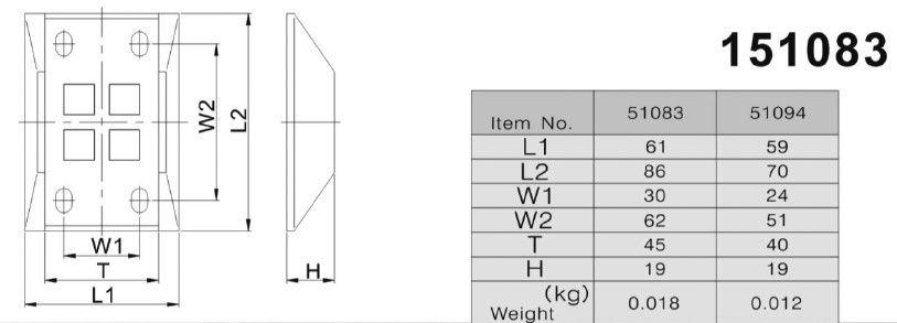 Подложка для фиксатора ворот (Арт: 151083)