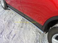 Пороги труба 60.3 мм  (TOYRAV 13-08) для Toyota Rav 4 2013 -
