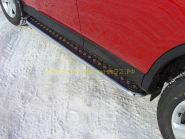 Пороги с площадкой  42.4 мм (TOYRAV 13-04) для Toyota Rav 4 2013 -