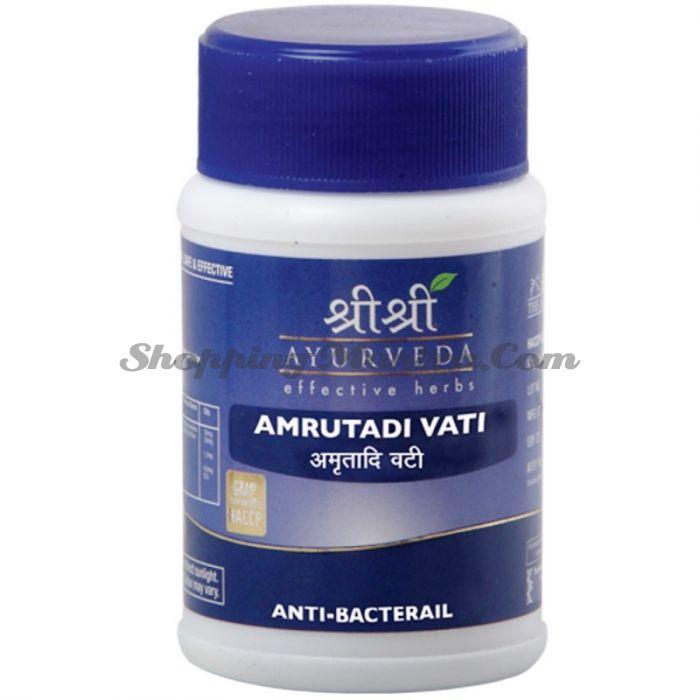 Амрутади противобактериальное средство Шри Шри Аюрведа (Sri Sri Ayurveda Amrutadi)