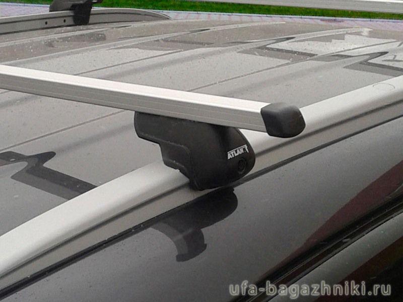 Багажник на крышу Hyundai ix35 с интегрированными рейлингами, Атлант, прямоугольные дуги