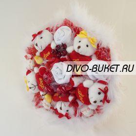 """Букет из носков и игрушек №255-5КН """"Аргумент"""""""