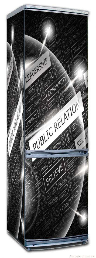 Наклейка  на холодильник - Public Relation
