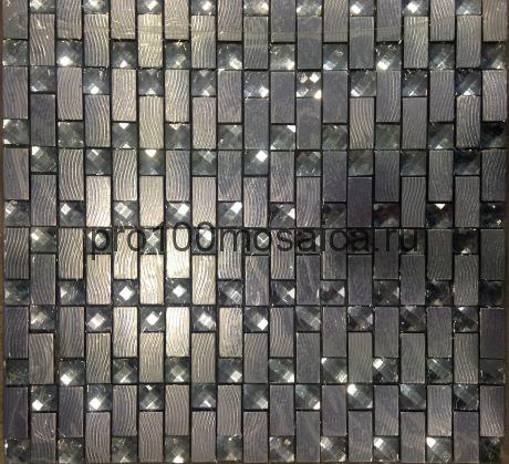 Olimp XI металл. Мозаика серия METAL, размер, мм: 300*300 (ORRO Mosaic)