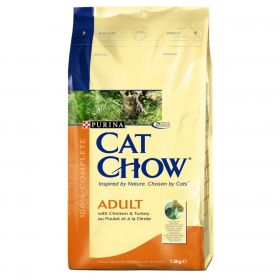 CAT CHOW ADULT сухой 15кг Птица