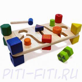 I'm toy. Развивающая скамейка для изучения формы предметов