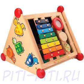 "I'm toy. Развивающий центр 5 в 1 ""Сортер, музыка, рисование, застежки"""