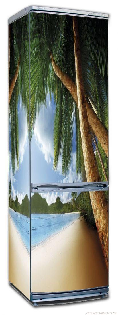 Наклейка на холодильник - Пляж 3
