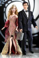 Коллекционные куклы Барби и Кен Джемс Бонд Агент 007 Гифтсет - James Bond 007 Ken and Barbie Giftset