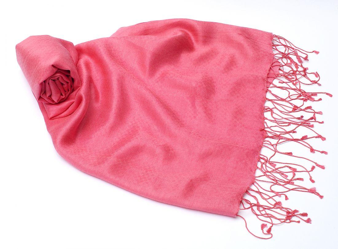 """Розовый шарф-палантин """"Шелковая нега"""" (отправка из Индии)"""