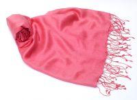 Розовый шарф палантин из шелка с шерстью, 1450 руб.