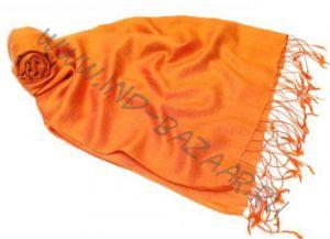 """Апельсиновый шарф-палантин """"Шелковая нега"""""""