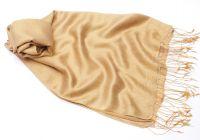 Кремовый шарф шёлк шерсть цвета шампанского, 1450 руб.