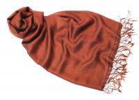 Шёлковый шарф палантин цвета молочного шоколада, 1450 руб.