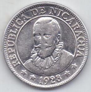 25 сентаво 1928 г. Никарагуа