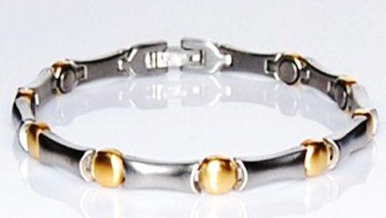 Титановый браслет с магнитами