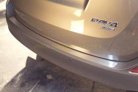 Накладка на задний бампер (Тип 2) для Toyota Rav 4 2013 -