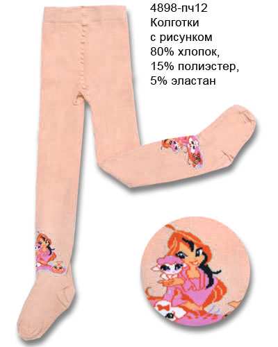 Розовые колготы для девочки