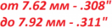 """Пули от 7.62 мм/.308"""" до 7.92 мм/.311"""""""