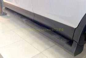Пороги с площадкой (Тип 3)   для Toyota Rav 4 2013 -