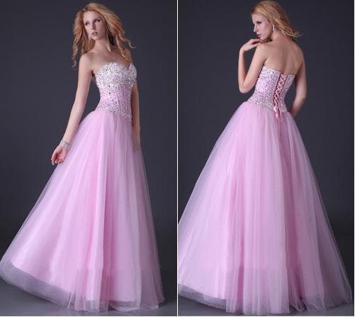 Розовое вечернее платье с пышной юбкой 4f95c43ab0a