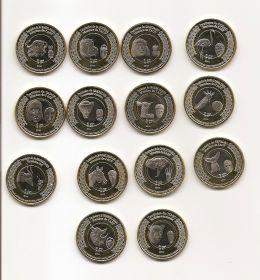 Набор монет Животные Французские колонии Африки 1914-2014  (14 монет)