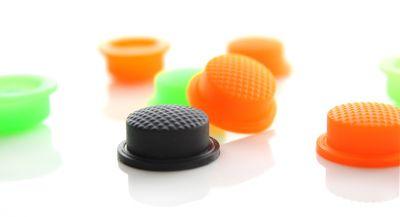 Силиконовые накладки на кнопку для фонарей, 14мм или 16мм (3 цвета)