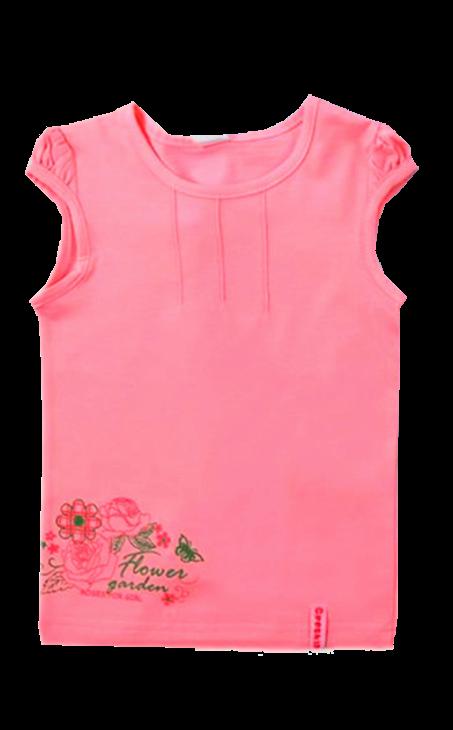 Красная блузка для девочки Crockid