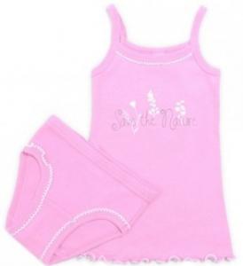 Розовый комплект белья для девочки