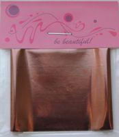 Фольга для дизайна ногтей, литья (переводная). Цвет: глянцевая темно-бронзовая  (Размер: 4см на 1 метр)