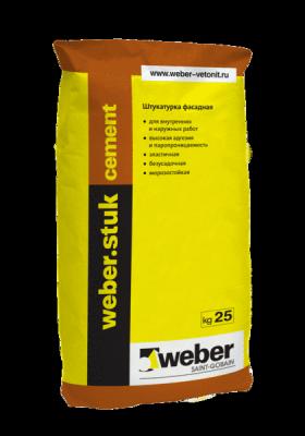 Weber STUK CEMENT цементная штукатурка (25кг)