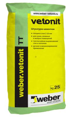 Weber Vetonit ТТ водостойкая штукатурка (25 кг)