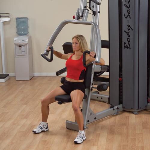 Трехпозиционный тренажер тяга с упором в грудь / верхняя тяга / жим от груди, плеч Body-Solid DPLS-S (опция к DGYM)