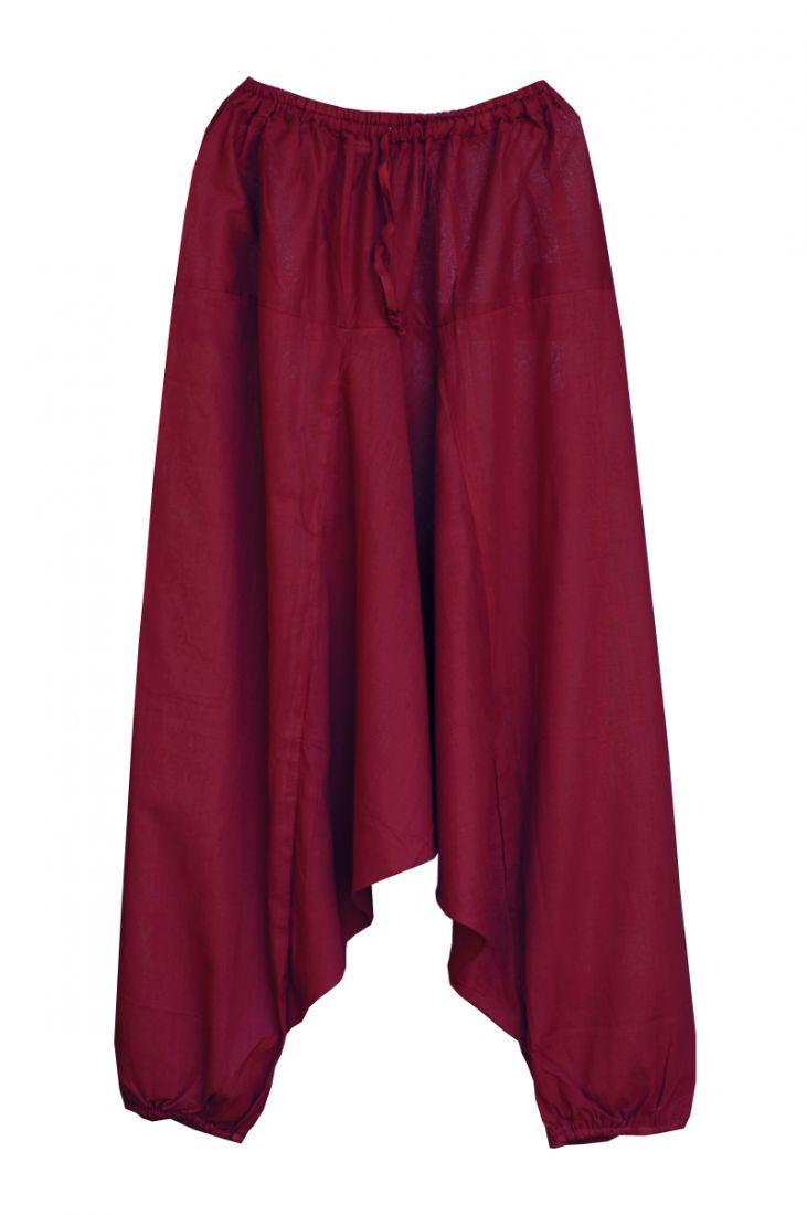 Штаны алладины из хлопка с узким поясом (отправка из Индии)