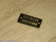 Табличка Bosch латунная